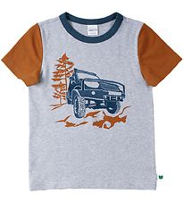 Freds World T-shirt - Safari - Gråmeleret m. Brun/Jeep