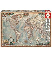 Educa Puslespil - 1500 Brikker - Political Map of the World