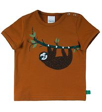 Freds World T-shirt - Sloth - Pecan m. Dovendyr