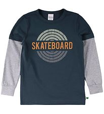 Freds World Bluse - Skate - Midnight m. Print