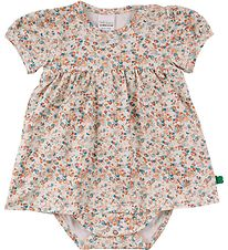 Freds World Kjolebody k/æ - Mini - Creme m. Blomster