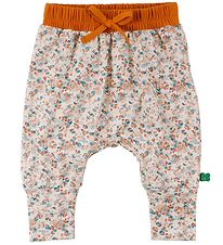 Freds World Sweatpants - Mini - Creme m. Blomster/Orange