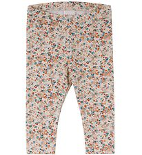 Freds World Leggings - Mini - Creme m. Blomster