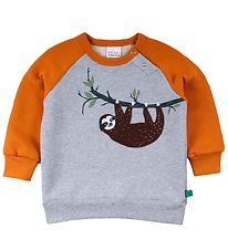 Freds World Sweatshirt - Sloth - Gråmeleret m. Dovendyr