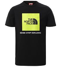 The North Face T-shirt - Box - Sort/Spring Green