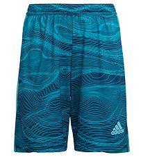 adidas Performance Shorts - Con GK - Turkis m. Mønster
