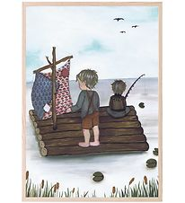 Thats Mine Plakat - 21x30 - Raft Fishing