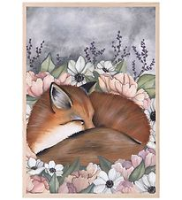 Thats Mine Plakat - 21x30 cm - Flower Field Fox