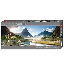 Heye Puzzle Puslespil - 1000 Brikker - Panorama - Milford Sound