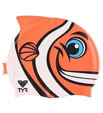 TYR Badehætte - Kids - CharacTYR - Happy Fish - Orange