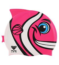 TYR Badehætte - Kids - CharacTYR - Happy Fish - Pink