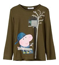 Name It Bluse - NmmPeppapig - Ivy Green