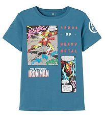 Name It T-shirt - NkmMarvel - Real Teal
