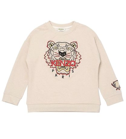 Kenzo Sweatshirt - Exclusive Edition - Gold Yellow/Rød m. Tiger