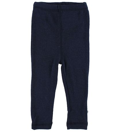 Smallstuff Leggings - Uld - Navy m. Elefanter