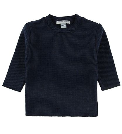 MP Bluse - Uld/Bomuld - Navy