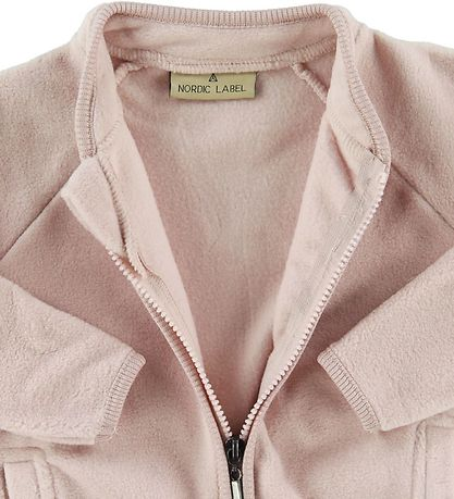 Nordic Label Fleececardigan - Pudderrosa