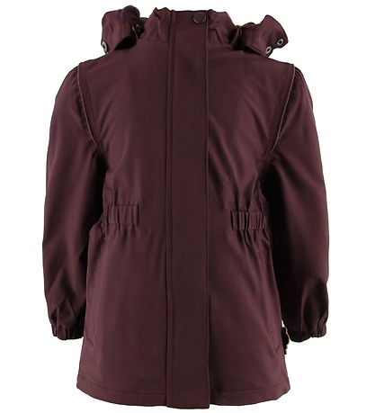 byLindgren Regnjakke m. Fleece - Gudrun - Dark Heather