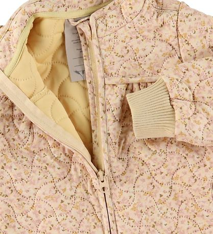 Wheat Termojakke - Thilde - Soft Beige Flowers