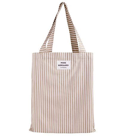 Mads Nørgaard Shopper - Atoma - White Alyssum/Travertine