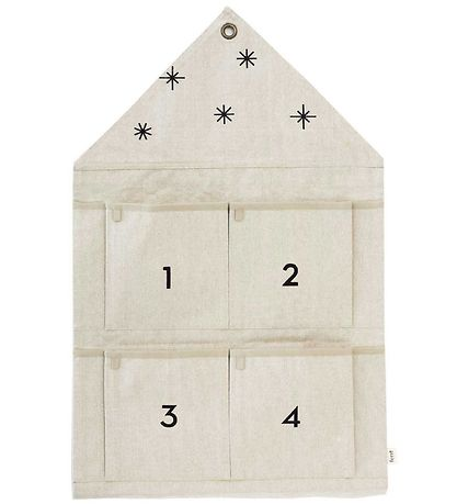 ferm Living Adventskalender - 50x78,5 - Mørk Sand/Sort