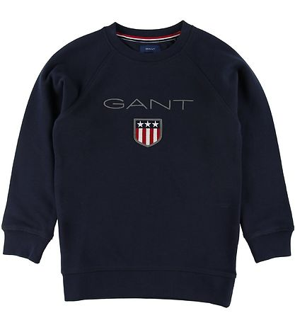 GANT Sweatshirt - Shield Logo - Navy