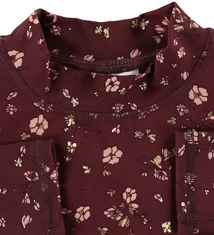 Soft Gallery Badebluse - UV50+ - Astin - Oxblood Red/Flowery