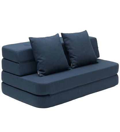 by KlipKlap Foldesofa - 3 Fold - 120 cm - Dark Blue/Black
