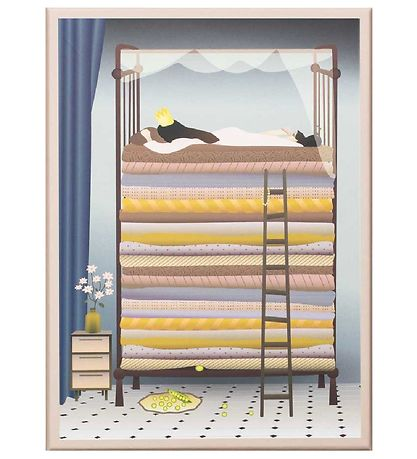 Vissevasse Plakat - 50x70 - The Princess And The Pea