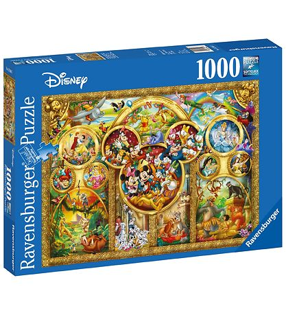 Ravensburger Puslespil - 1000 Brikker - The Best Disney Themes