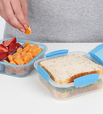 Sistema Madkasse - Lunch Stack Square - 1,24 l - Lilla