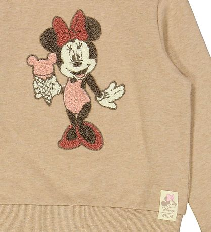 Wheat Disney Sweatshirt - Minnie Terry - Sand