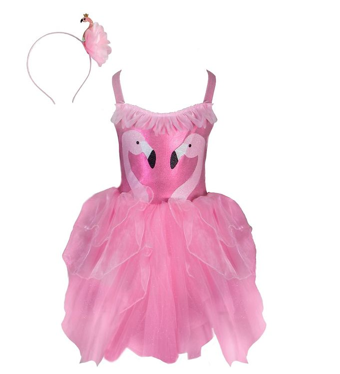 Image of Great Pretenders Udklædning - Fancy Flamingo - Pink m. Glimmer (CA537)