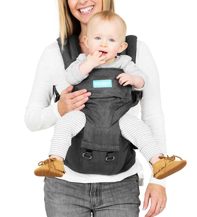Image of Moby Bæresele - 2-in-1 - Hipseat & Carrier - Grå (CB024)