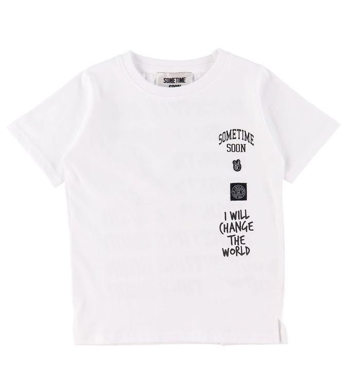 Image of Sometime Soon T-shirt - Merlin - Hvid (CB606)