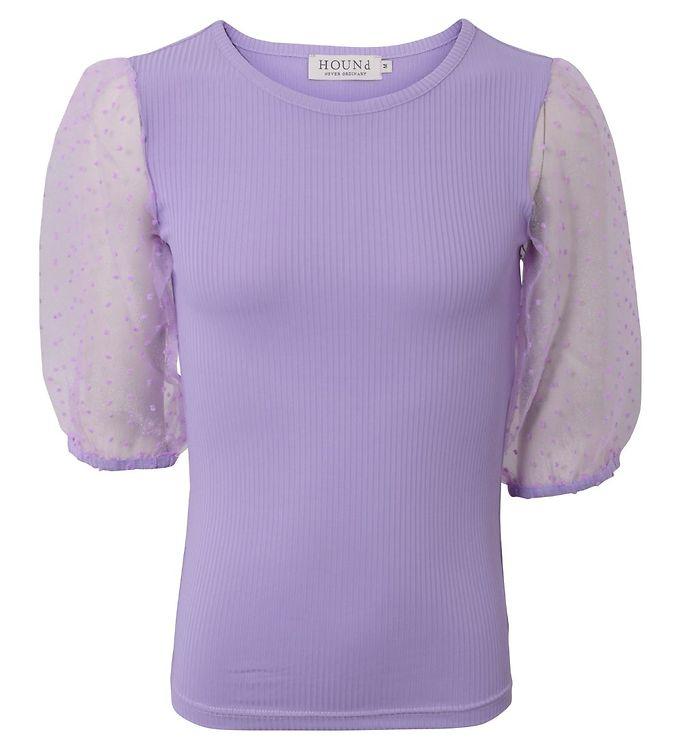 Image of Hound T-shirt - Lavender m. Tyl (CB797)