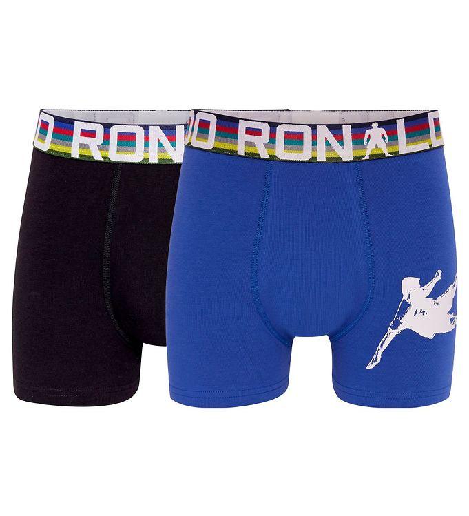 Image of Ronaldo Boxershorts - 2-pak - Blå/Sort (CD126)
