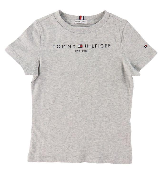 Image of Tommy Hilfiger T-shirt - Essential - Organic - Gråmeleret (CD179)