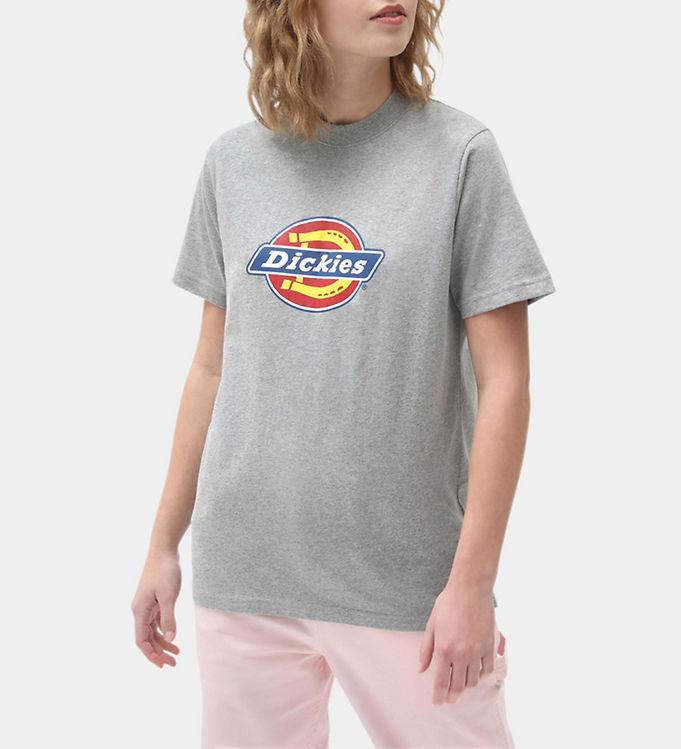 Image of Dickies T-shirt - Icon Logo - Gråmeleret m. Logo (CD820)