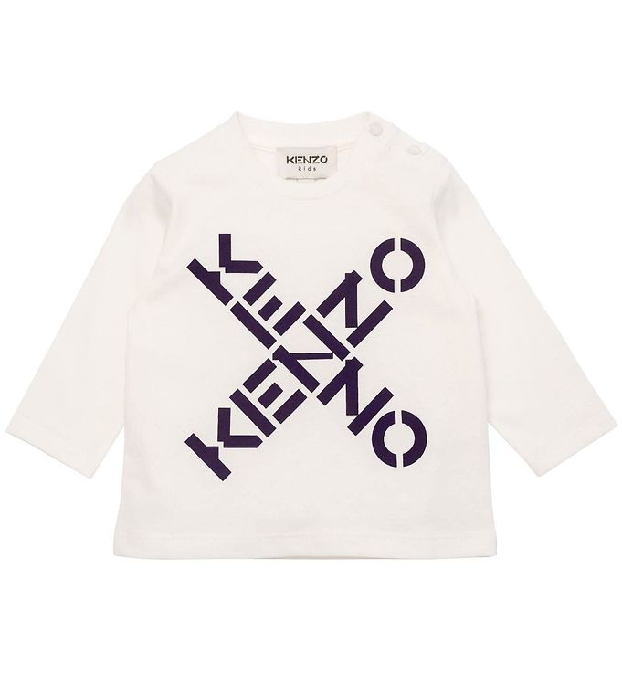Image of Kenzo Bluse - Off White m. Sort (CE328)