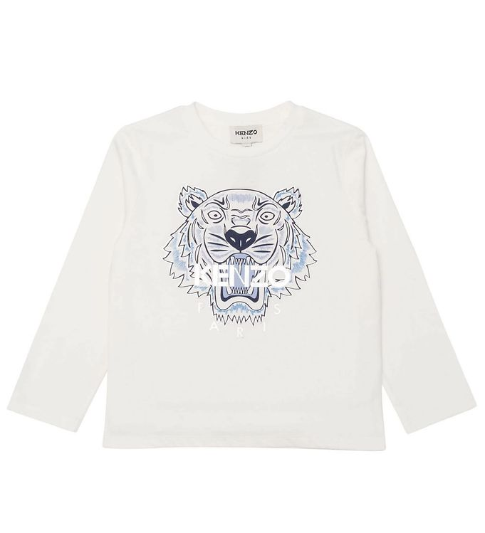 Image of Kenzo Bluse - Off White m. Tiger (CE341)