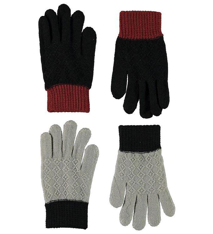 Molo Handsker – 2-pak – Kyra – Warm Grey Melange