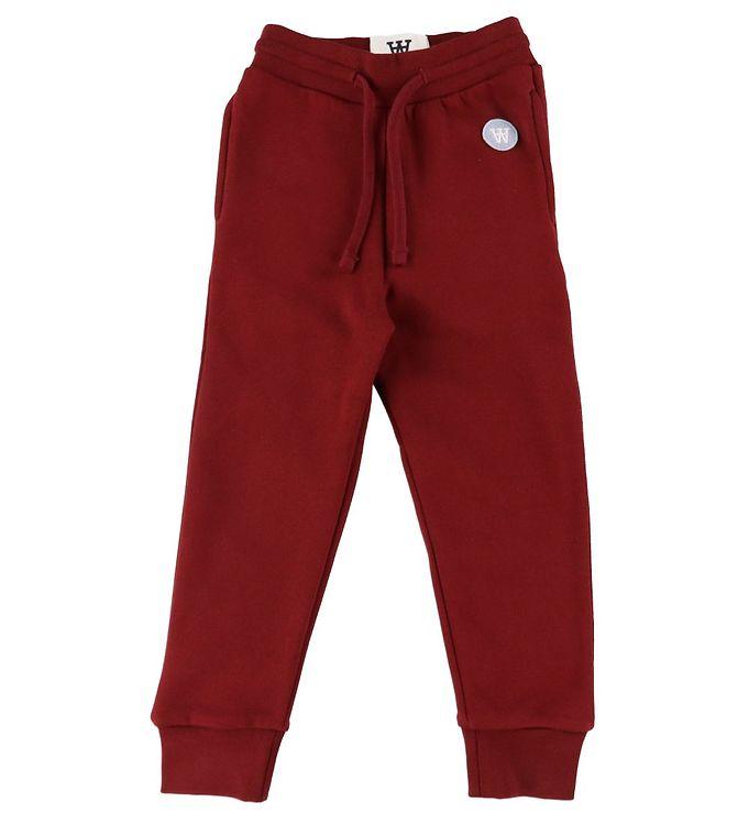Image of Wood Wood Sweatpants - Ran - Dark Red (DA516)