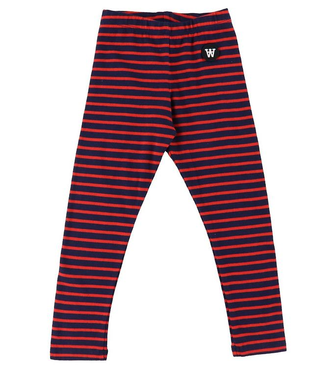 Image of Wood Wood Leggings - Ira - Navy/Red Stripes (DA517)