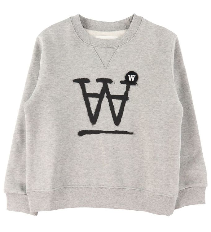 Image of Wood Wood Sweatshirt - Rod - Grey Melange (DA519)