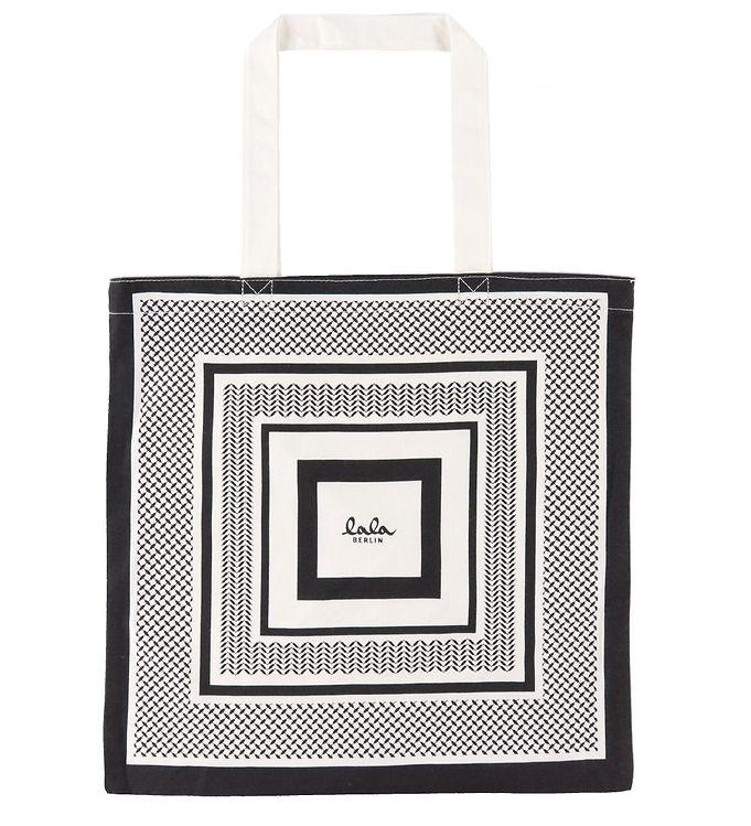 Image of Lala Berlin Shopper - Carmen - Sort/Hvid (DA570)