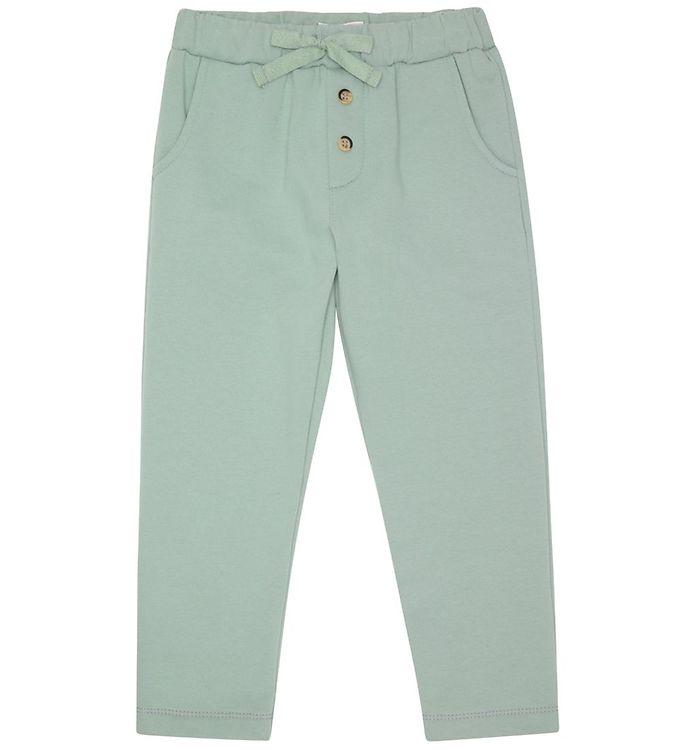 Image of Popirol Sweatpants - Leo - Jade Green m. Knapper (DA881)