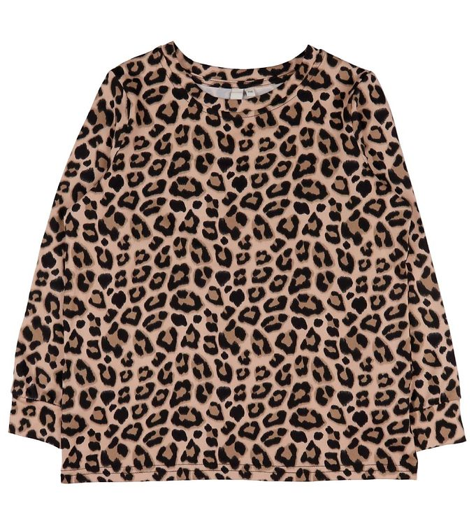 Image of Little Pieces Bluse - LpSunday - Sort/Leo (DB353)