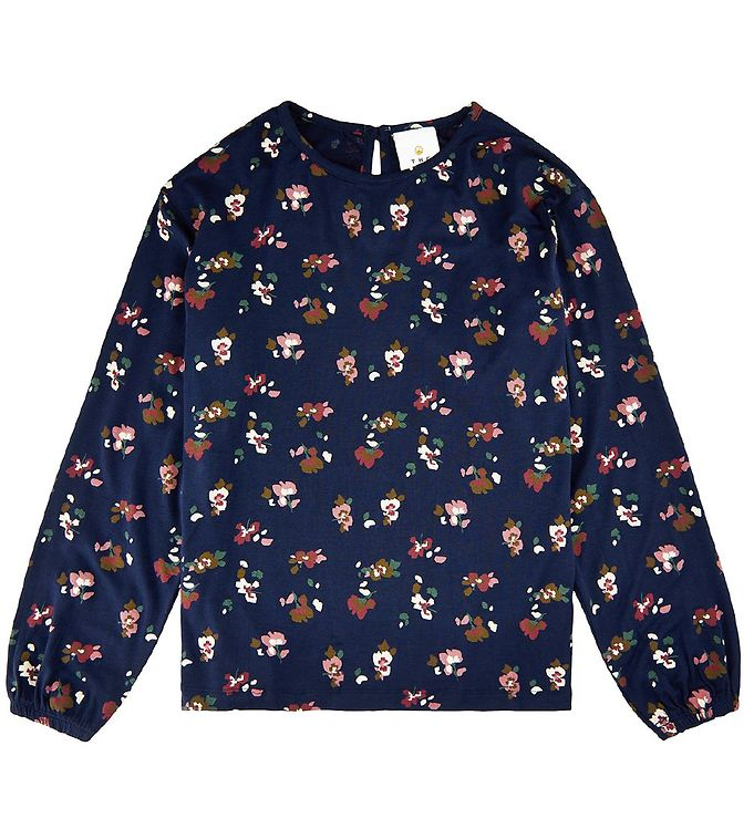 Image of The New Bluse - Vienne - Navy Blazer m. Blomster (EA229)
