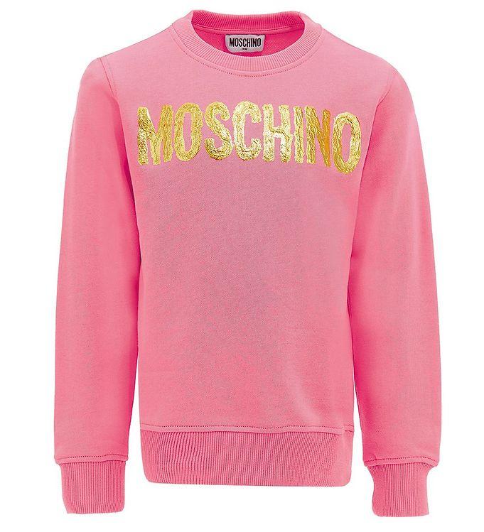 Image of Moschino Sweatshirt - Aurora Pink m. Guld (EB038)